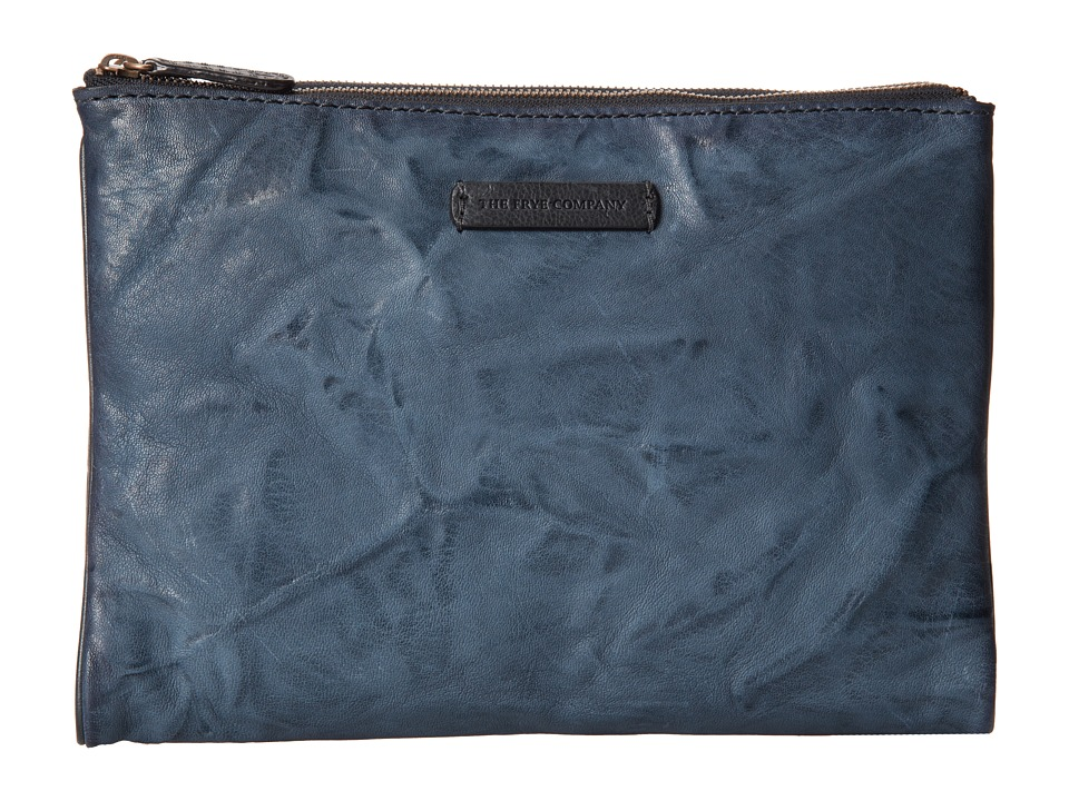 Frye Michelle Tech Clutch (Blue Antique Soft Vintage) Clutch Handbags