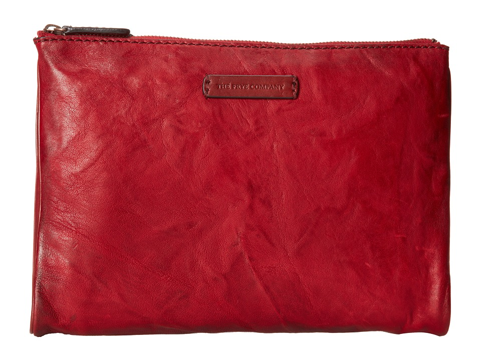 Frye Michelle Tech Clutch (Burnt Red Antique Soft Vintage) Clutch Handbags