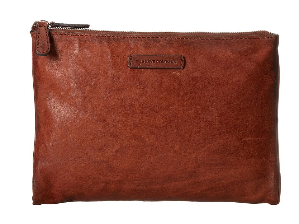 Frye Michelle Tech Clutch (Cognac Antique Soft Vintage) Clutch Handbags