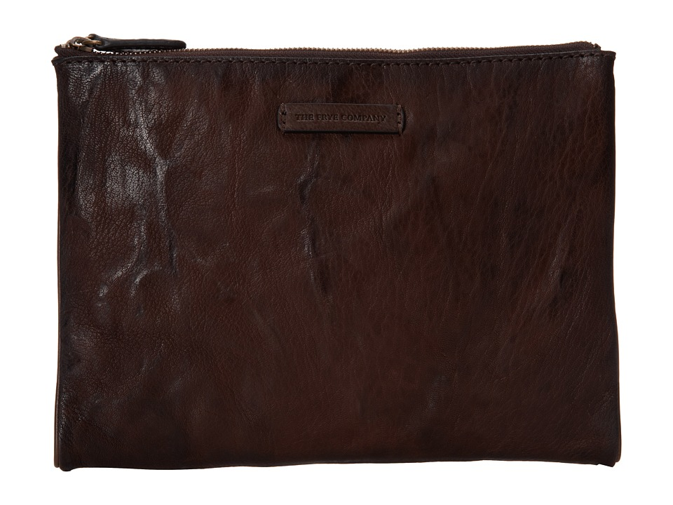 Frye - Michelle Tech Clutch (Dark Brown Antique Soft Vintage) Clutch Handbags