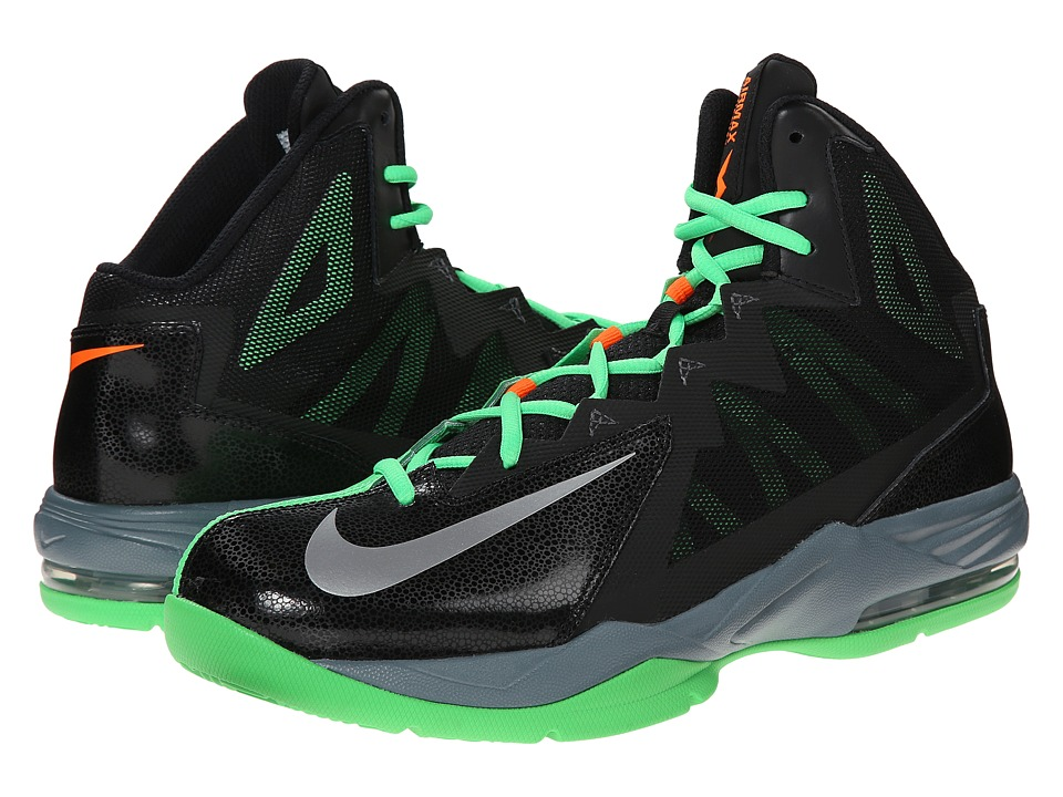Nike - Air Max Stutter Step 2 (Black/Poison Green/Blue Graphite/Metallic Silver) Men's Basketball Shoes