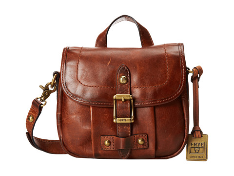 Frye - Parker Field Small (Cognac Antique Pull Up) Shoulder Handbags