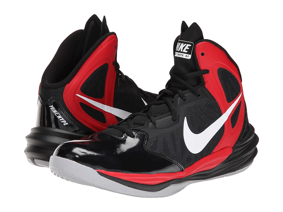 Nike - Prime Hype DF (Black/University Red/Anthracite/White) Men's Basketball Shoes