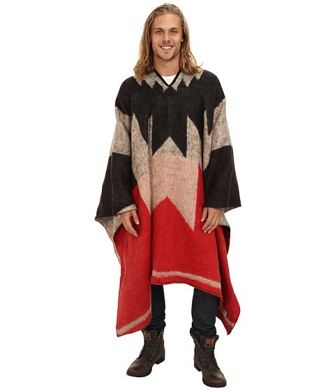 Brixton - Barry Poncho Blanket (Red/Cream) Men