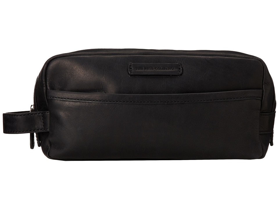 Frye - Logan Travel Dopp Large (Black Antique Pull Up) Toiletries Case