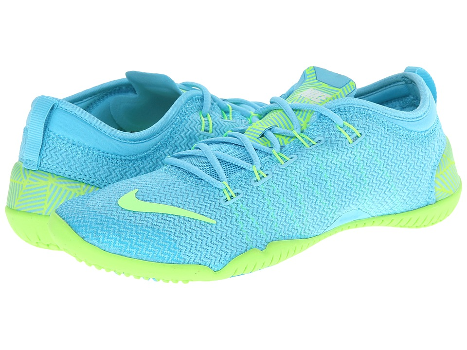 Nike - Free 1.0 Cross Bionic (Clearwater/White/Flash Lime) Women's Cross Training Shoes