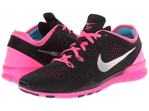 Nike - Free 5.0 TR Fit 5 (Black/Pink Pow/Fireberry/Metallic Silver) Women's Cross Training Shoes