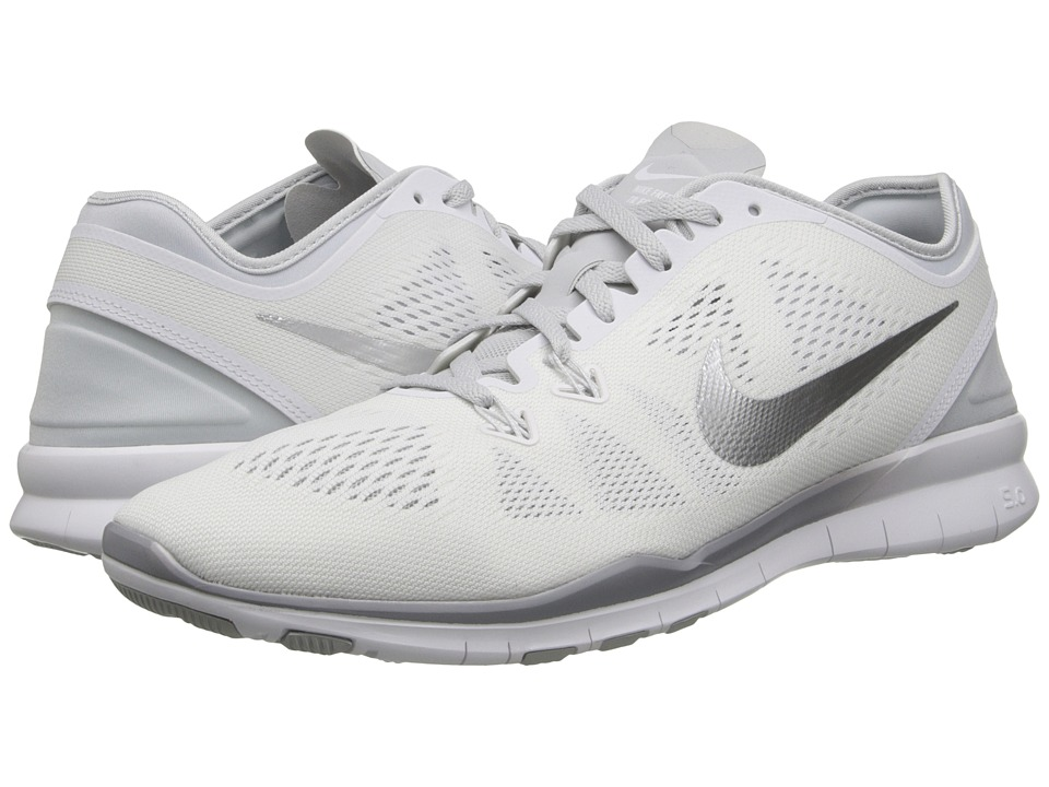 Nike - Free 5.0 TR Fit 5 (White/Pure Platinum/Metallic Silver) Women's Cross Training Shoes