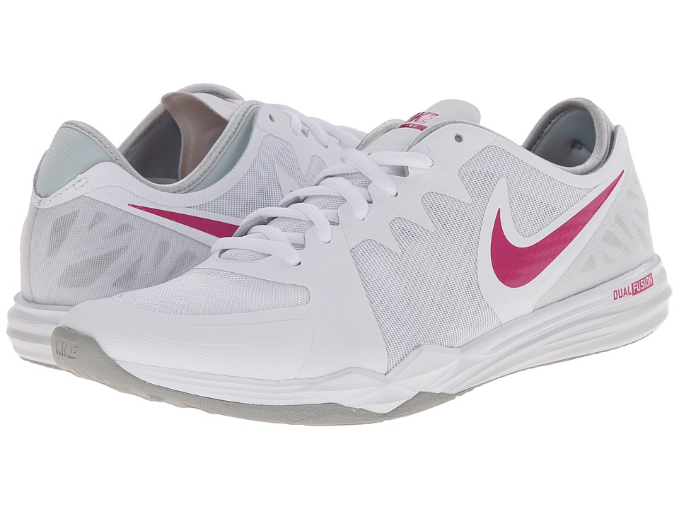 Nike - Dual Fusion TR 3 (White/Pure Platinum/Wolf Grey/Vivid Pink) Women