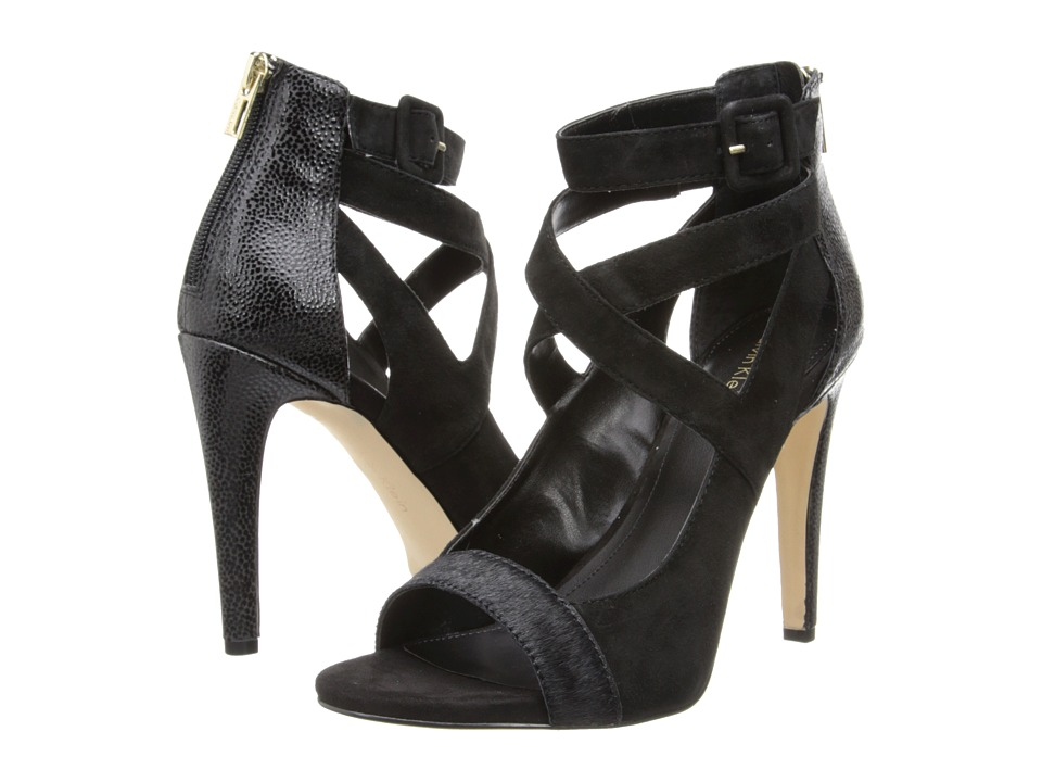Calvin Klein - Saren (Black Hair Calf/Kid Suede) High Heels
