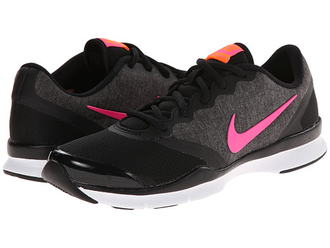 Nike - In-Season TR 4 (Black/Classic Charcoal/Total Orange/Pink Pow) Women's Cross Training Shoes