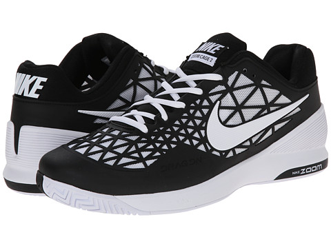 Nike - Zoom Cage 2 (Black/White) Men's Tennis Shoes