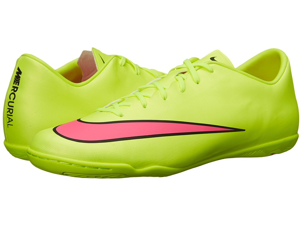 Nike - Mercurial Victory V IC (Volt/Black/Hyper Pink) Men