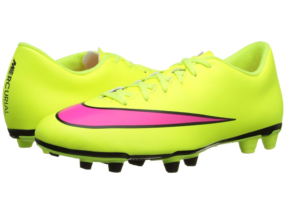 Nike - Mercurial Vortex II FG (Volt/Black/Hyper Pink) Men
