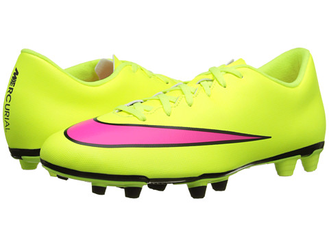 Nike - Mercurial Vortex II FG (Volt/Black/Hyper Pink) Men's Soccer Shoes