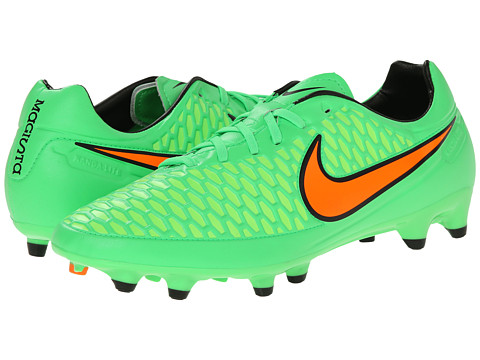 Nike - Magista Orden FG (Poison Green/Flash Lime/Black/Total Orange) Men's Soccer Shoes