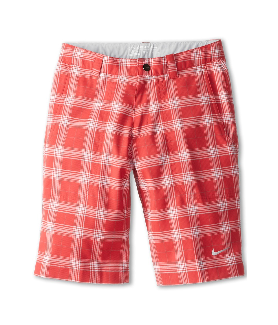 Nike Kids - Plaid Short (Big Kids) (Action Red/Neutral Grey) Boy