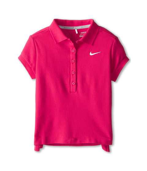 Nike Kids - Swing Polo (Little Kids/Big Kids) (Fuchsia Force/White) Girl