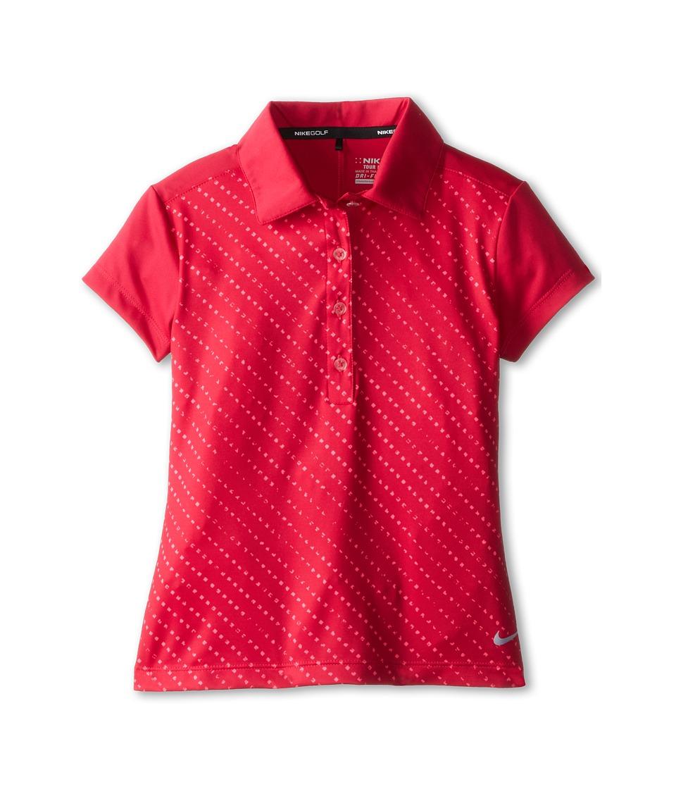 Nike Kids - Novelty Polo (Little Kids/Big Kids) (Fuchsia Force/Wolf Grey) Boy's Short Sleeve Pullover