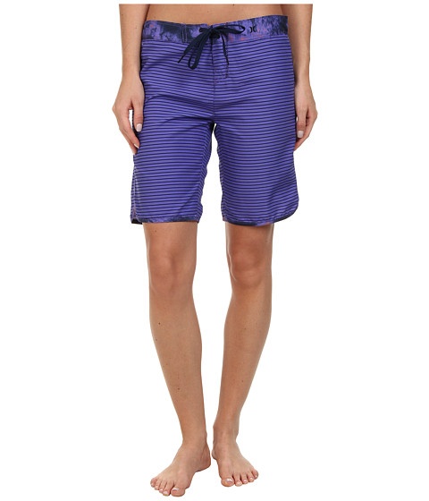 Hurley - Supersuede Printed 9 Beachrider (Electric Purple Mini Stripe) Women's Swimwear
