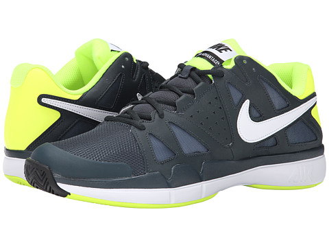 Nike - Air Vapor Advantage (Classic Charcoal/Volt/White) Men