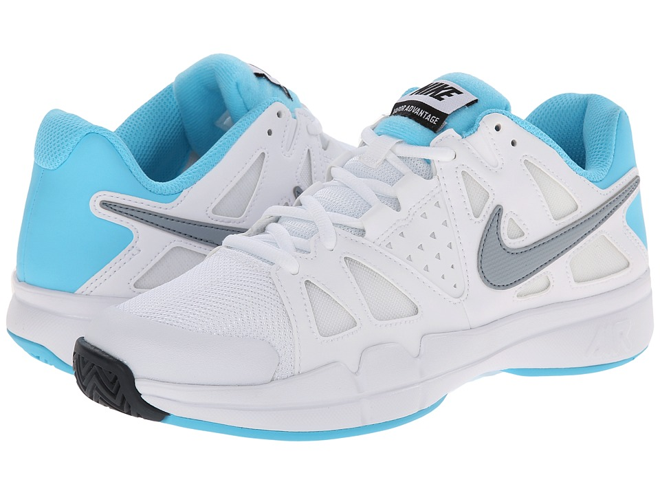 Nike - Air Vapor Advantage (White/Clearwater/Dove Grey) Women's Tennis Shoes