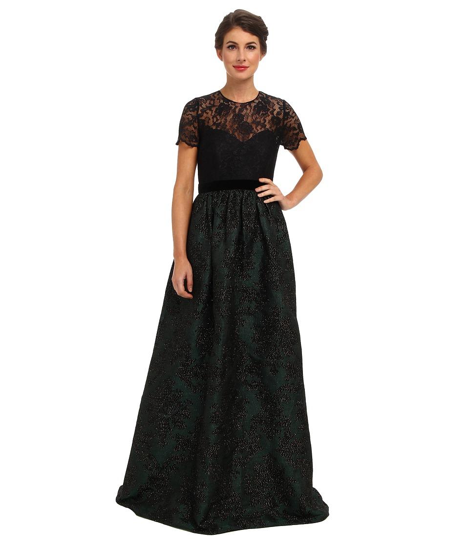 Badgley Mischka - T-Shirt Ballgown (Emerald) Women's Dress