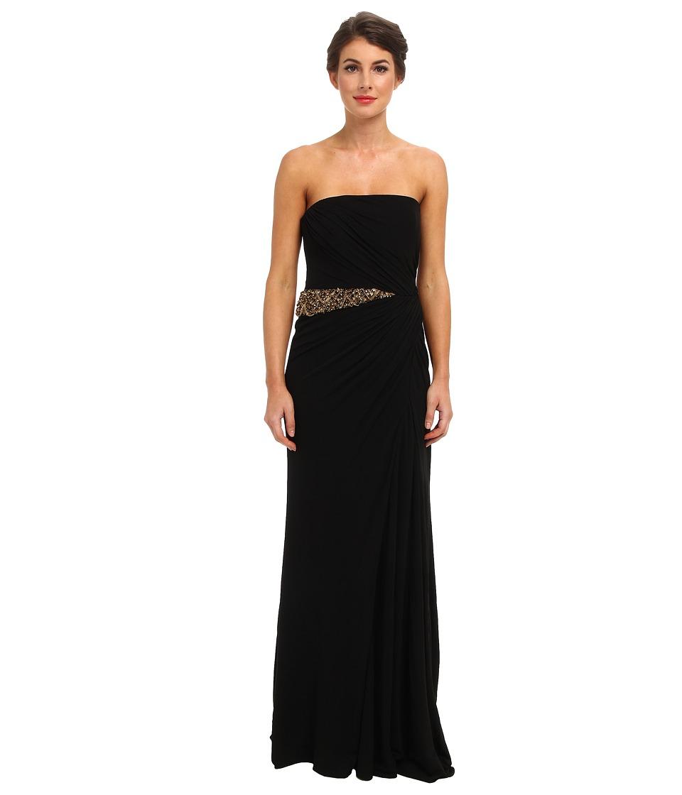 Badgley Mischka - Solid Draped Jersey (Black) Women