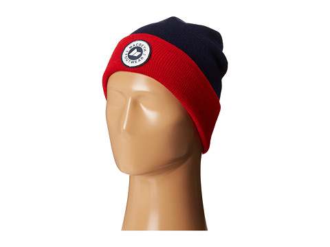 Macbeth - Circle Grit Beanie (Midnight/Muted Red/White) Beanies