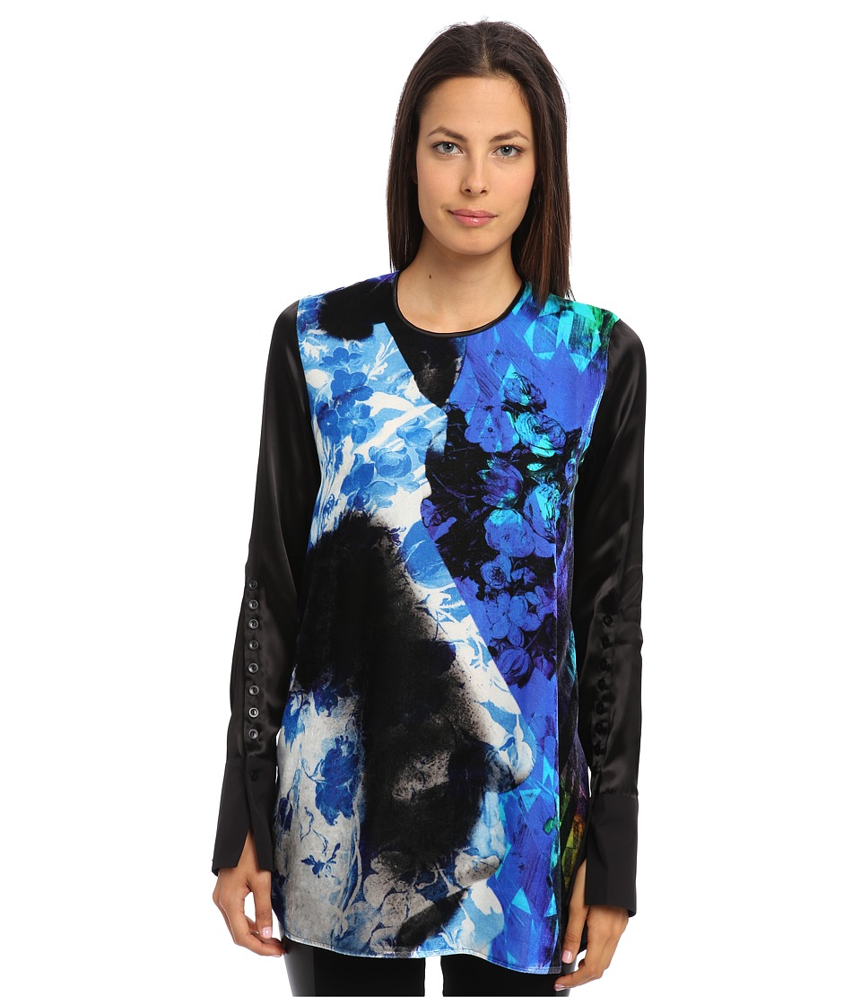 Just Cavalli - Oversized Long Sleeve Print Shirt (Multi) Women's Long Sleeve Pullover