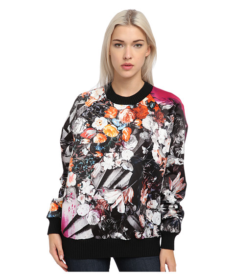 Just Cavalli - Floral Printed Sweater (Fuchsia) Women's Clothing