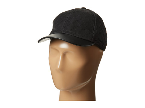 BCBGeneration - Solid Quilted Baseball (Black) Baseball Caps