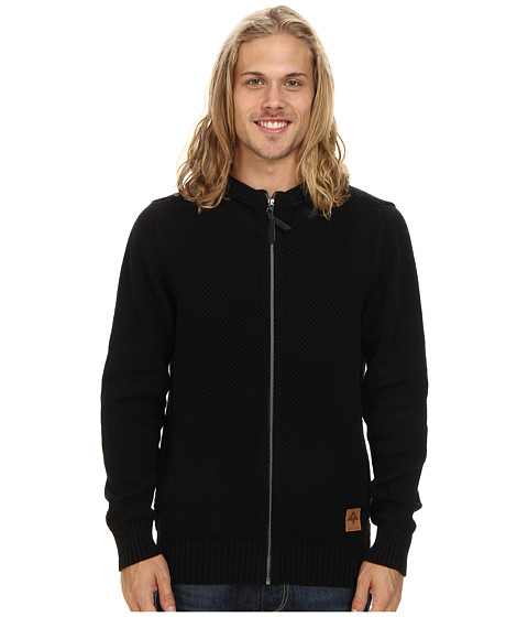 L-R-G - Clampdown Zip Sweater Hoodie (Black) Men
