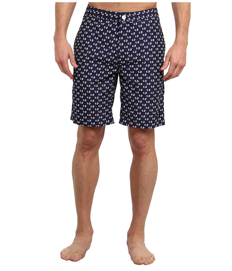 Jack Spade - Decker Googly Eyes Boardshort (Navy) Men's Swimwear