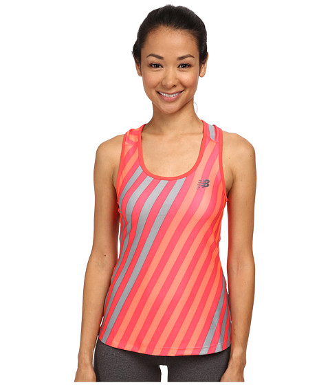 New Balance - Challenger Printed Tank (Bright Cherry Print) Women