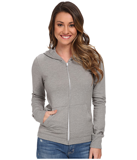 Hurley - Solid Slim Fleece Zip Hoodie (Heather Grey) Women
