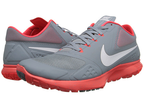 Nike - FS Lite Trainer II (Dove Grey/Bright Crimson/White) Men