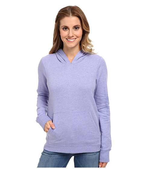 Hurley - Solid Slim Fleece Pullover (Heather Electric Purple) Women