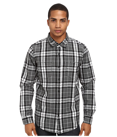 L-R-G - Airlift L/S Woven (Black) Men's Long Sleeve Button Up