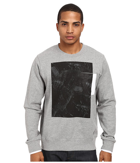 L-R-G - L-Coalition Crew Neck Sweatshirt (Grey Heather) Men's Sweatshirt
