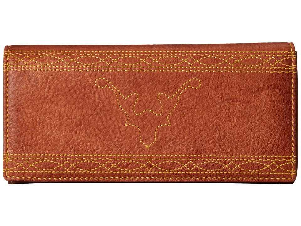 Frye - Campus Stitch Wallet (Saddle Dakota) Wallet Handbags