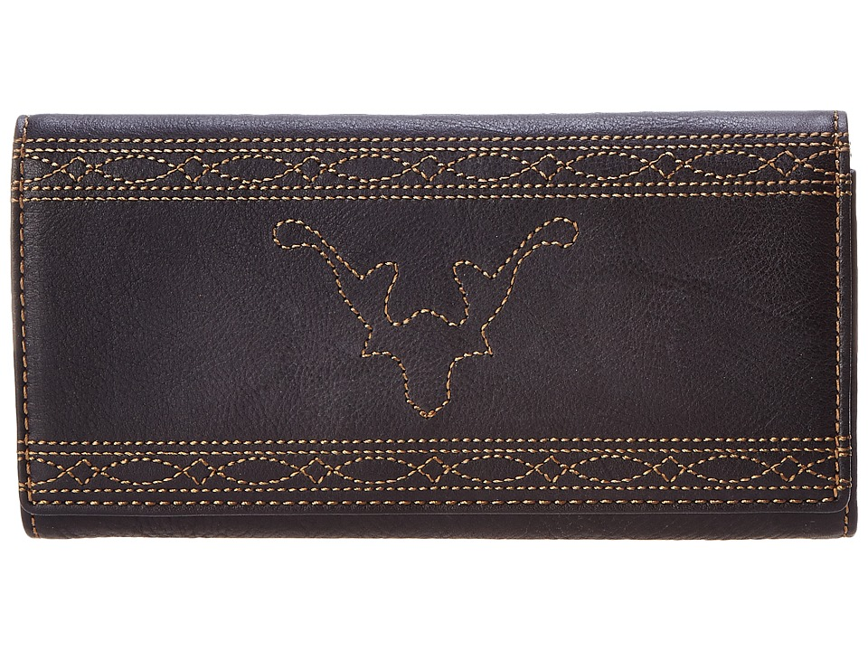 Frye - Campus Stitch Wallet (Black Dakota) Wallet Handbags