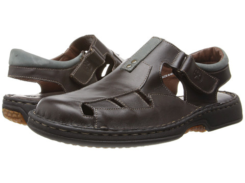 Lobo Solo - Lukas (Brown Leather) Men's Hook and Loop Shoes