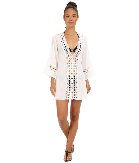 La Blanca - Solid Intuition Tunic Cover-Up (White) Women's Swimwear