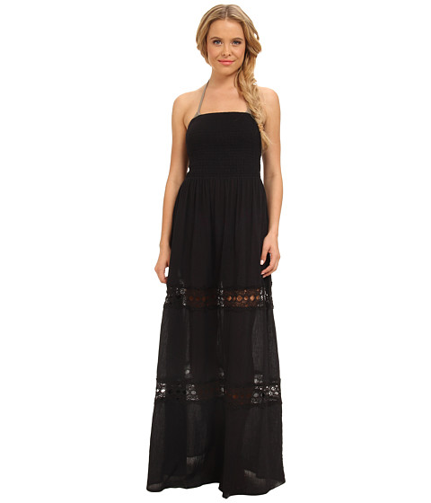 La Blanca - Solid Intuition Maxi Cover-Up (Black) Women's Swimwear