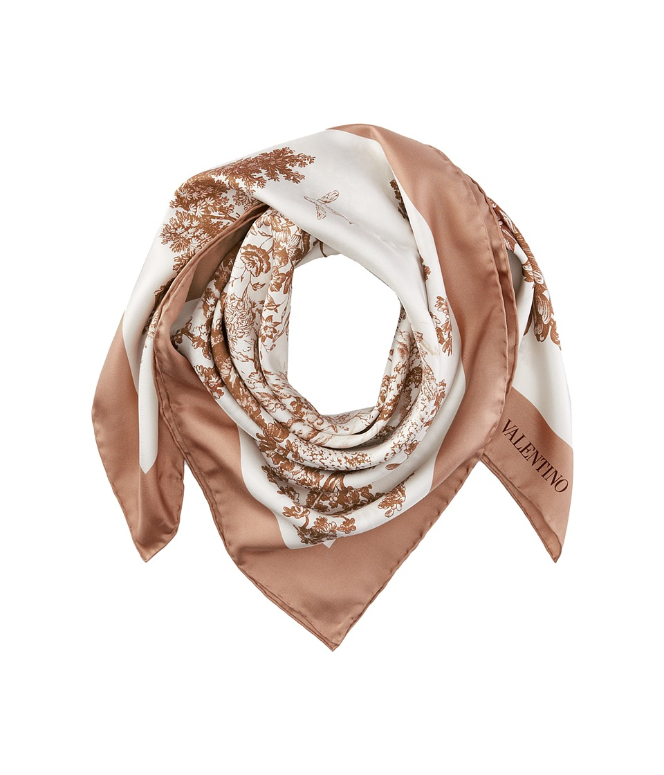 Valentino - Landscape Twill Scarf (Brown) Scarves