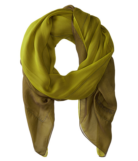 Valentino - Breeze Double Sided Chiffon Scarf (Green) Scarves