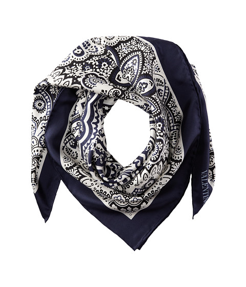 Valentino - Bandana Twill Scarf (Blue) Scarves