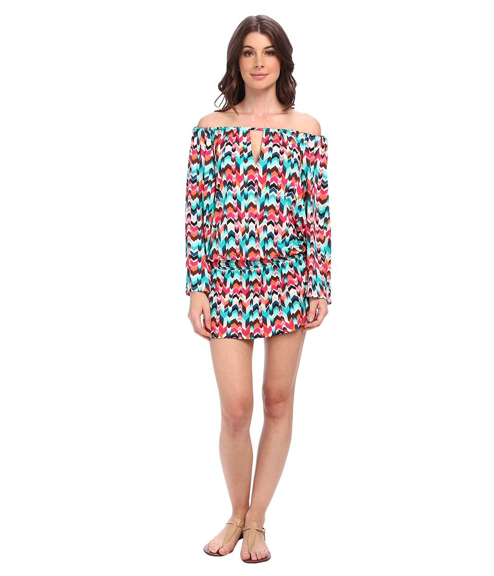 La Blanca - Essence Chevron Tunic Cover-Up (Multi) Women's Swimwear