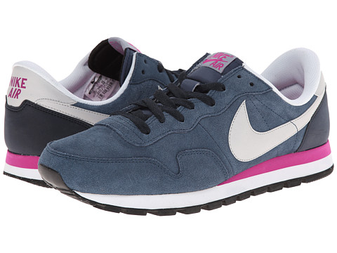 Nike - Air Pegasus 83 Leather (New Slate/Dark Obsidian/Fuchsia Flash/Dove Grey) Men